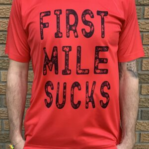 first-mile-sucks-running-adult-performance-running-shirt-red-front
