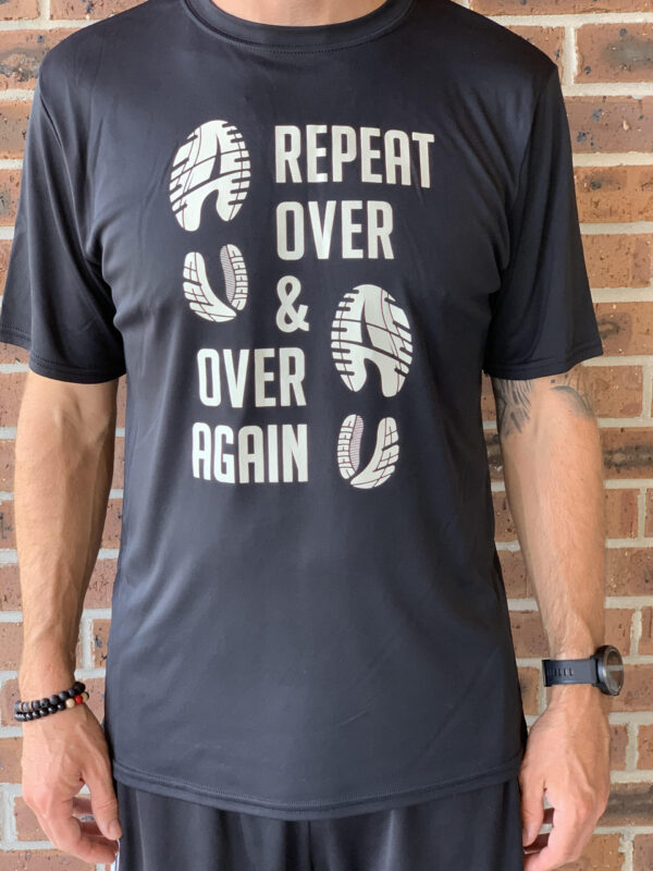 over and over again racing shirt black