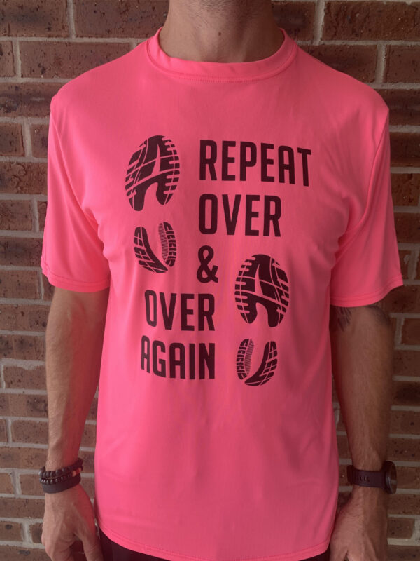 over and over again racing shirt pink