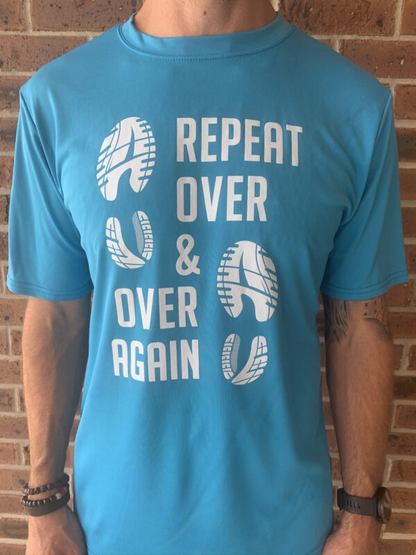 over and over racing shirt front